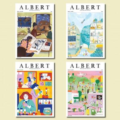 Albert N°73 + 74 + 75 + 76